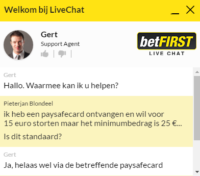 Betfirst chat